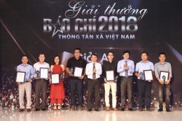 Trao giải báo chí TTXVN năm 2018