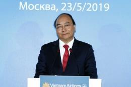 Thủ tướng Nguyễn Xuân Phúc dự kỷ niệm 15 năm đường bay thẳng Việt Nam – Nga