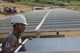 Nhà máy điện mặt trời Điện lực miền Trung chuẩn bị phát điện