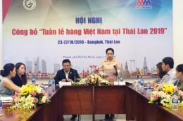 Tp. Hồ Chí Minh sẽ tổ chức Tuần lễ hàng Việt Nam tại Thái Lan 2019