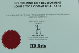 HDBank lọt vào top những nơi làm việc tốt nhất châu Á
