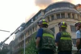 Cháy lớn khách sạn trăm năm tuổi ở Trung Quốc