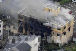 Khám nghiệm hiện trường vụ cháy xưởng phim ở Nhật Bản