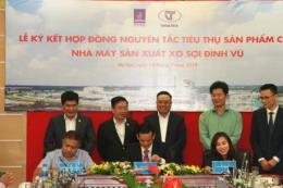 PVTEX ký kết hợp đồng nguyên tắc tiêu thụ sản phẩm xơ sợi tổng hợp