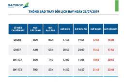 Bamboo Airways thay đổi giờ khai thác các chuyến bay từ Thanh Hóa và Hà Nội