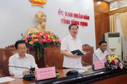 Phó Thủ tướng Vương Đình Huệ làm việc tại Bình Định