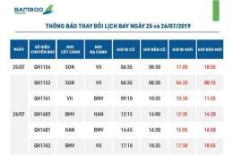 Bamboo Airways thay đổi giờ khai thác một số chuyến bay
