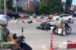 Quảng Ninh: Xe khách mất lái đâm liên hoàn dưới chân cầu Bãi Cháy