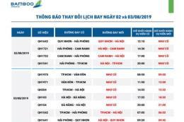 Bamboo Airways điều chỉnh khai thác một số chuyến bay do ảnh hưởng bão số 3