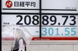 Căng thẳng thương mại Mỹ-Trung gia tăng, chứng khoán châu Á giảm điểm