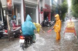 Hà Nội xuất hiện điểm ngập dù trận mưa sáng 8/8 không lớn
