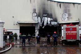 Cháy tại khu công nghiệp Sóng Thần 3 (Bình Dương)