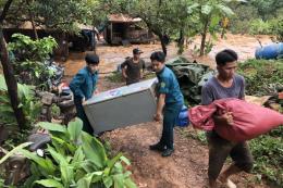Bình Phước: Di dời gần 5.000 người dân đến nơi an toàn do sự cố tại đập thủy điện Đắk Kar