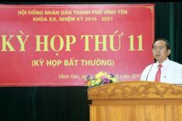 Ông Lương Văn Long được bầu làm Chủ tịch UBND thành phố Vĩnh Yên