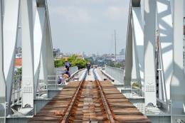 Gấp rút thi công cầu Bình Lợi, dự kiến chạy thử tàu trong tháng 9