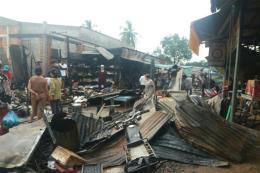 Cháy chợ biên giới ở Tây Ninh, ước thiệt hại gần 2 tỷ đồng