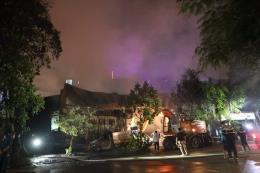 Đã khống chế được đám cháy tại Khu công nghiệp Ngọc Hồi
