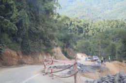 Khẩn trương khắc phục sụt lún dự án đường Hồ Chí Minh đoạn tránh Chư Sê