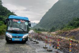 Quảng Bình: Tuyến đường đi Cửa khẩu Quốc tế Cha Lo có điểm sạt lở nguy hiểm