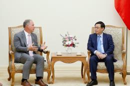 Phó Thủ tướng Vương Đình Huệ tiếp Tổng Giám đốc Công ty Gen X Energy