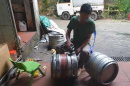 Phát hiện cơ sở san chiết bia nhái nhãn hiệu của Công ty TNHH Đại Việt Châu Á