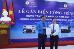 Gắn biển Trung tâm Điều khiển xa Nam Định, chào mừng 50 năm thành lập EVNNPC