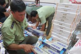 Long An thu giữ trên 4.300 gói thuốc lá nhập lậu
