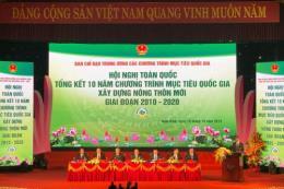 Thủ tướng chủ trì Hội nghị Tổng kết 10 năm Chương trình xây dựng nông thôn mới