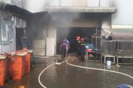 Bình Dương: Cháy lớn tại công ty sản xuất giày, dép