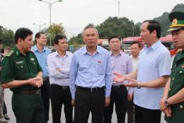 Thứ trưởng Phùng Đức Tiến: Giải quyết nhanh hàng nông sản ùn ứ tại cửa khẩu Tân Thanh