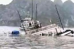 Một tàu du lịch bị chìm trên vịnh Hạ Long