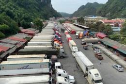 Rút ngắn thời gian thông quan để giảm ùn ứ nông sản tại cửa khẩu Tân Thanh