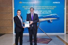 Vietnam Airlines lọt top 5 hãng đạt độ tin cậy cất cánh Airbus A350 XWB