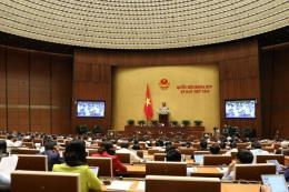 Hôm nay, Quốc hội biểu quyết một nghị quyết, thảo luận hai dự án Luật