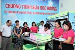Hơn 300.000 trẻ em ở Tp. Hồ Chí Minh chính thức thụ hưởng sữa học đường