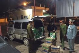 Bắt giữ 480 chai bia nhãn hiệu Tsing Tao và 960 ống mỳ nhập lậu