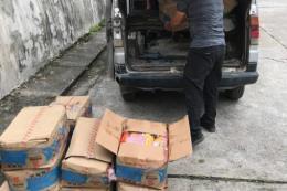 Bắt giữ và tiêu hủy hàng trăm cân thực phẩm bẩn nhập lậu từ Trung Quốc