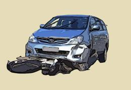 Xe khách mất lái tông vào dải phân cách trên quốc lộ