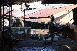 Khoảng 400m2 chợ bị thiêu rụi trong đêm, thiệt hại hàng tỷ đồng