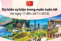 Dự kiến sự kiện trong nước tuần từ 17/11 đến 24/11/2019