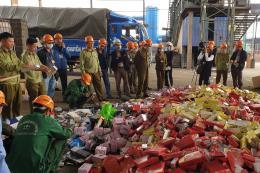 Tiêu huỷ 63 tấn hàng hoá vi phạm hành chính
