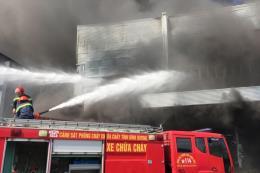 Bình Dương: Cháy tại Công ty trách nhiệm hữu hạn Master Sofa International