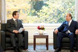 Thủ tướng Nguyễn Xuân Phúc tiếp Thị trưởng Seoul