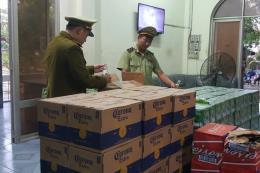 Trên 4.000 chai bia mang nhãn hiệu nước ngoài bị thu giữ