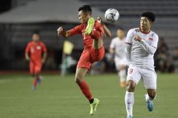 SEA Games 30: Hiệp 1 giằng co giữa U22 Việt Nam và U22 Singapore