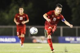 SEA Games 30: Quang Hải tham gia buổi tập nhẹ của U22 Việt Nam