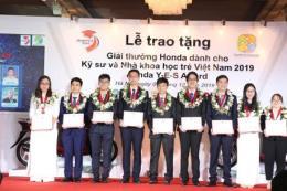 Lần thứ 14, Honda trao thưởng cho kỹ sư và nhà khoa học trẻ Việt Nam