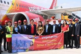 Vietjet khai trương đường bay Tp. Hồ Chí Minh - Pattaya, mở bán hàng loạt vé 0 đồng