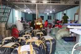Bình Dương điều tra cơ sở sản xuất quần áo giả nhãn hiệu nổi tiếng