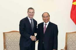 Thủ tướng Nguyễn Xuân Phúc tiếp Giám đốc điều hành Cơ quan Phát triển tài chính Hoa Kỳ